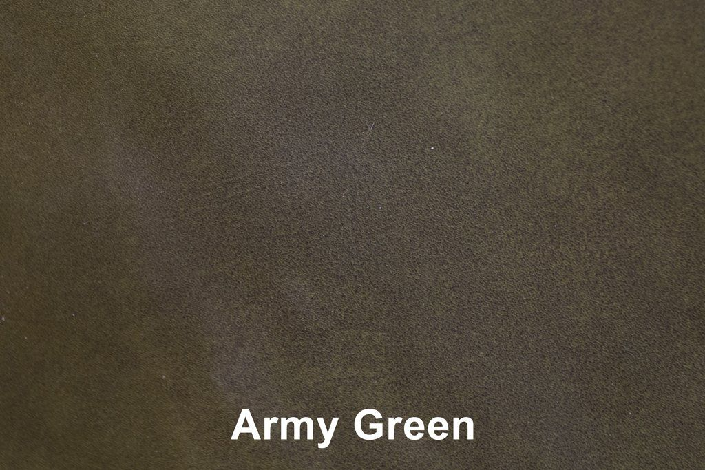 Industrial Leather Army Green